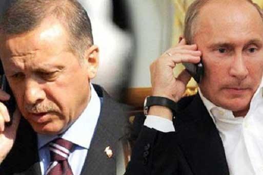 اردوغان در تماس با پوتین: به هر گونه حمله دولت سوریه پاسخ می دهیم