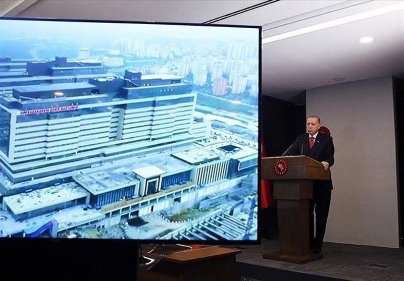 افتتاح بیمارستان استانبول توسط اردوغان