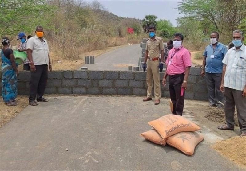 روش جالب برخی ایالت های هند برای ممانعت از رفت و آمد شهروندان