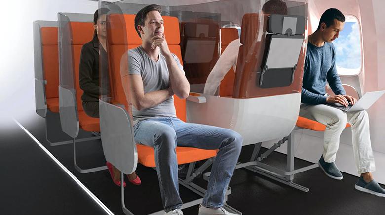این جایگاه های معکوس هواپیما ایده ای جالب برای پرواز بدون واهمه از ویروس کرونا هستند