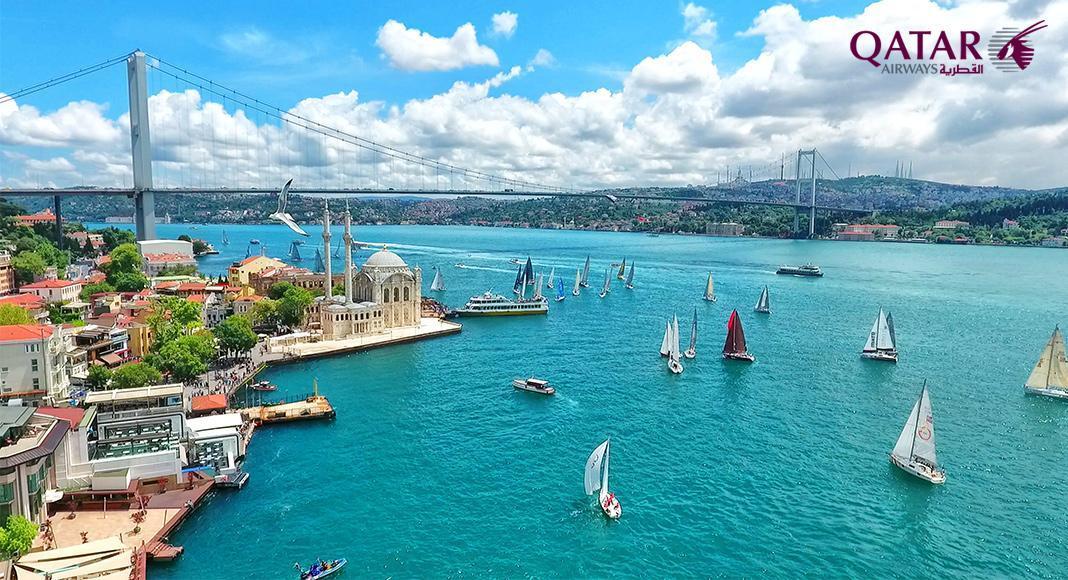 پروازهای غیر مستقیم تهران استانبول با قطر ایرویز