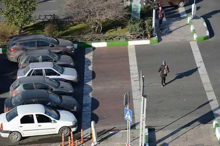 اجرای طرح توقف خودروها پشت خط عابر پیاده