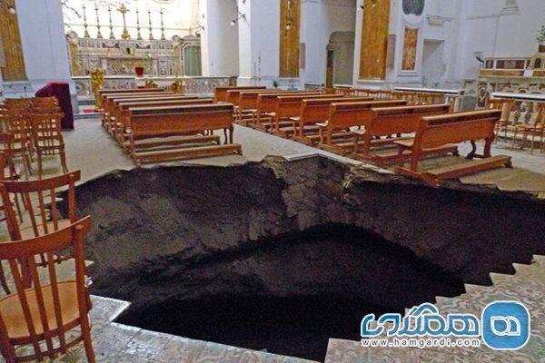 کلیساهای تاریخی ایتالیا با خطر فرونشست زمین روبرو هستند