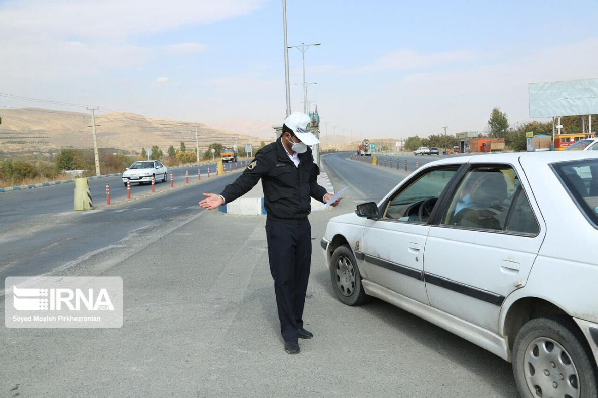 خبرنگاران اعمال محدودیت های ویژه ترافیکی مقابله با کرونا در همدان