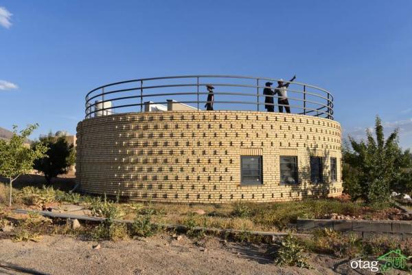 خانه ویلایی دایره ای با طراحی بسیار خاص و زیبا به همراه پلان