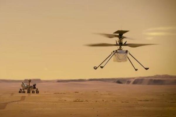 سومین فرود موفقیت آمیز هلیکوپتر ناسا بر روی مریخ (عکس)