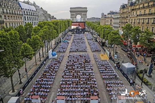 شانزلیزه سینمای روباز شد، عکسی از مشهورترین خیابان پاریس