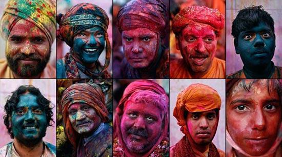 جشنواره سالانه رنگ و شادی در هند